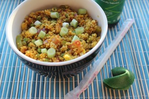 Curry fried rice, curry quinoa, curry fried quinoa, fried rice with quinoa, vegetable curry quinoa, Asian curry quinoa, recipes, food, vegetarian curry quinoa, healthy quinoa recipe