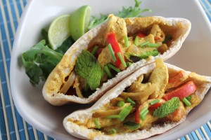 Indian Yellow Curry Sauce Pita