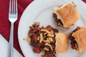 sloppy joes, gourmet sloppy joes, homemade sloppy joes, sloppy joe sliders, crispy onion sloppy joes, crockpot sloppy joes, slow cooker sloppy joes, gameday grub, recipes, food