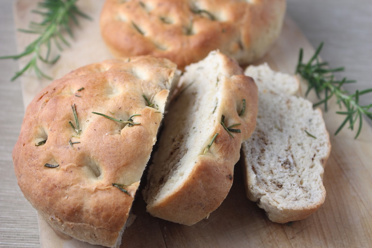 Rosemary Focaccia Bread | Little Leopard Book