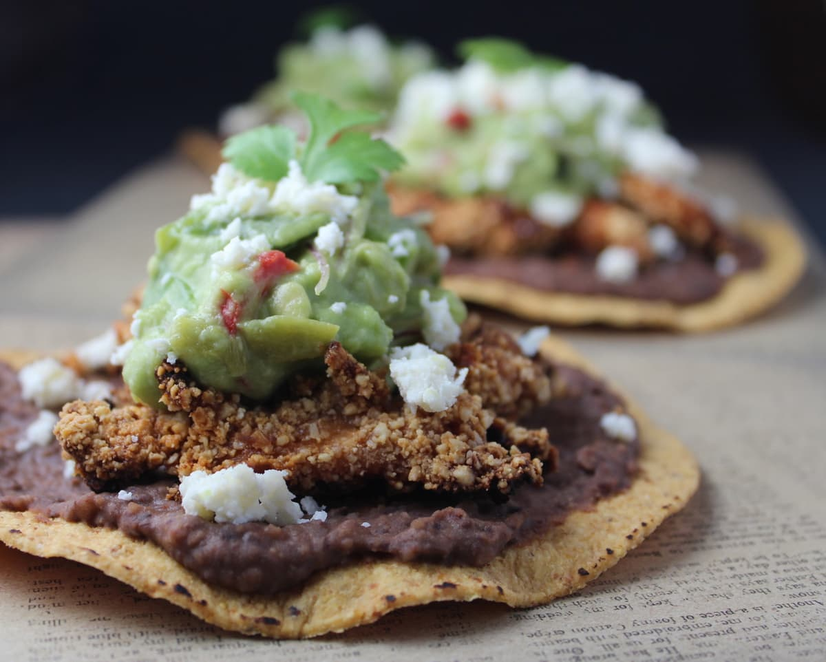 Chipotle Cashew Chicken Tostadas