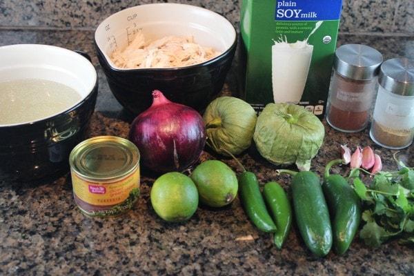 Green Chili Enchilada Soup