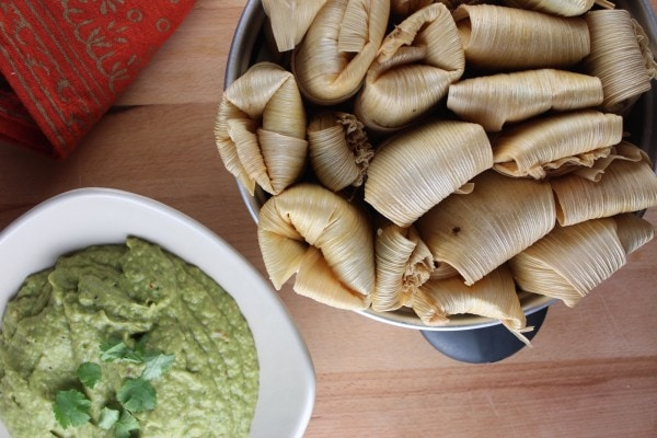 Green Chili Avocado Sauce with Tamales