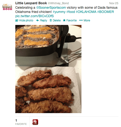 twitter, sooner sports, fried chicken, ou sooners, ou sooners favorite fried chicken, ou sooners twitter favorite