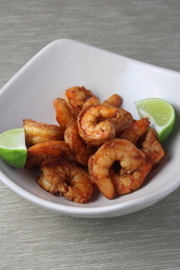 , deveined and marinated in a slightly spicy chili, lime garlic sauce ...