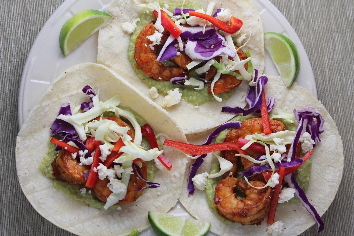 Simple Shrimp Taco Recipe - Little Leopard Book
