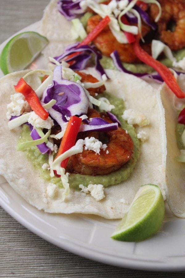 Shrimp Tacos With Grilled Poblano Salsa Recipes — Dishmaps