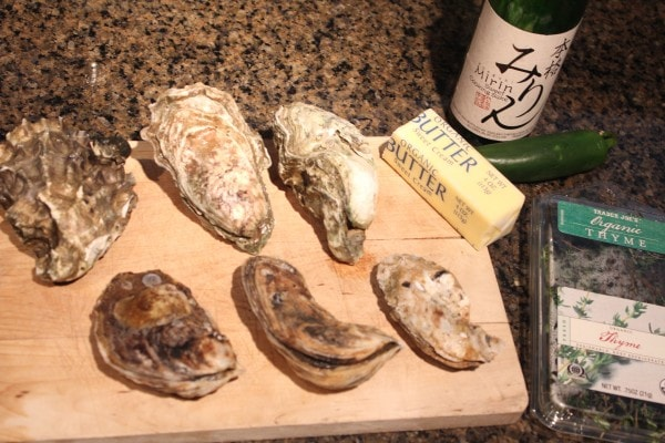 Ingredients for Grilled Oysters