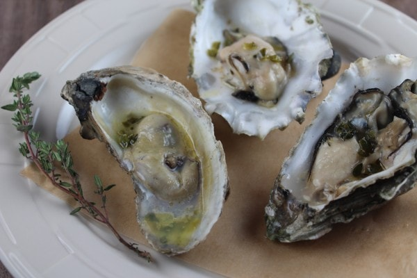 Grilled Oysters with Sake Jalapeño Reduction