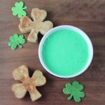 Shamrock Shaped Pancake Recipe with Green Cream Cheese Syrup
