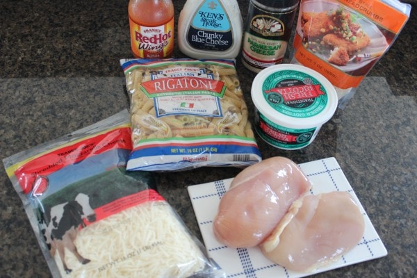 Buffalo Chicken Baked Rigatoni Ingredients