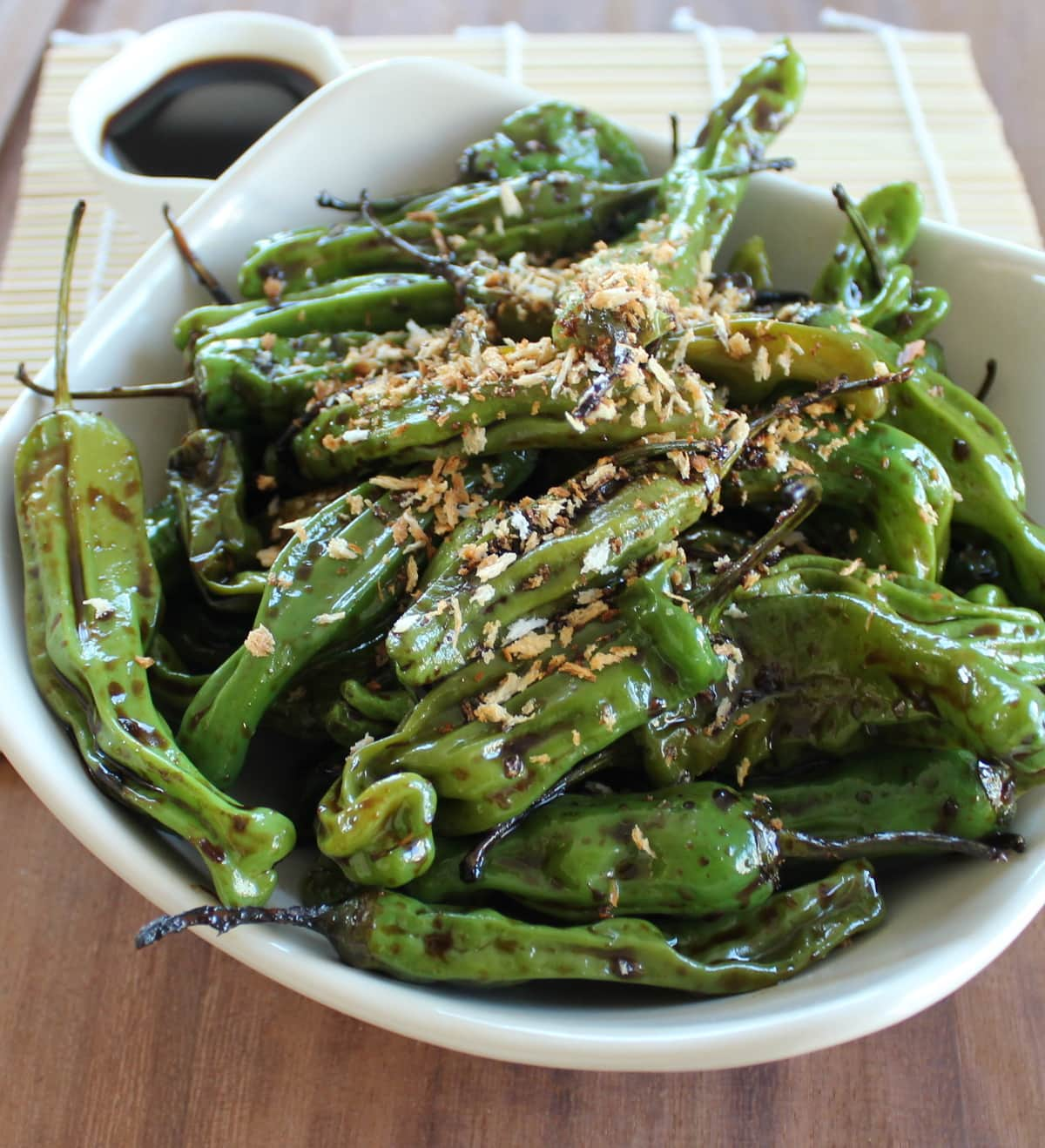 ... soy ginger shishito pepper recipe, sweet soy ginger sauce, sweet soy
