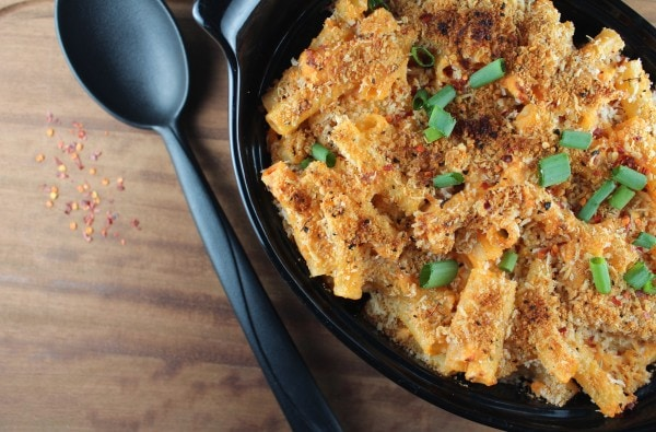Four Cheese Buffalo Chicken Pasta Bake