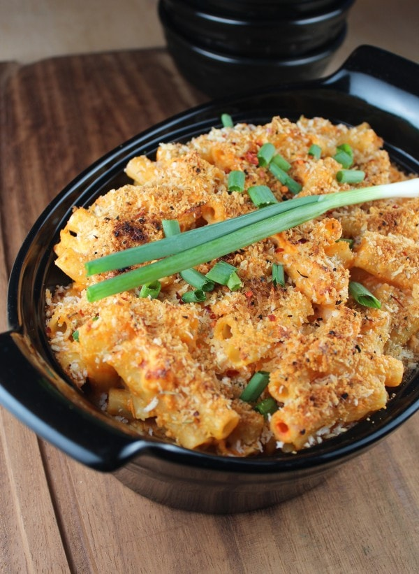Four Cheese Buffalo Chicken Baked Pasta