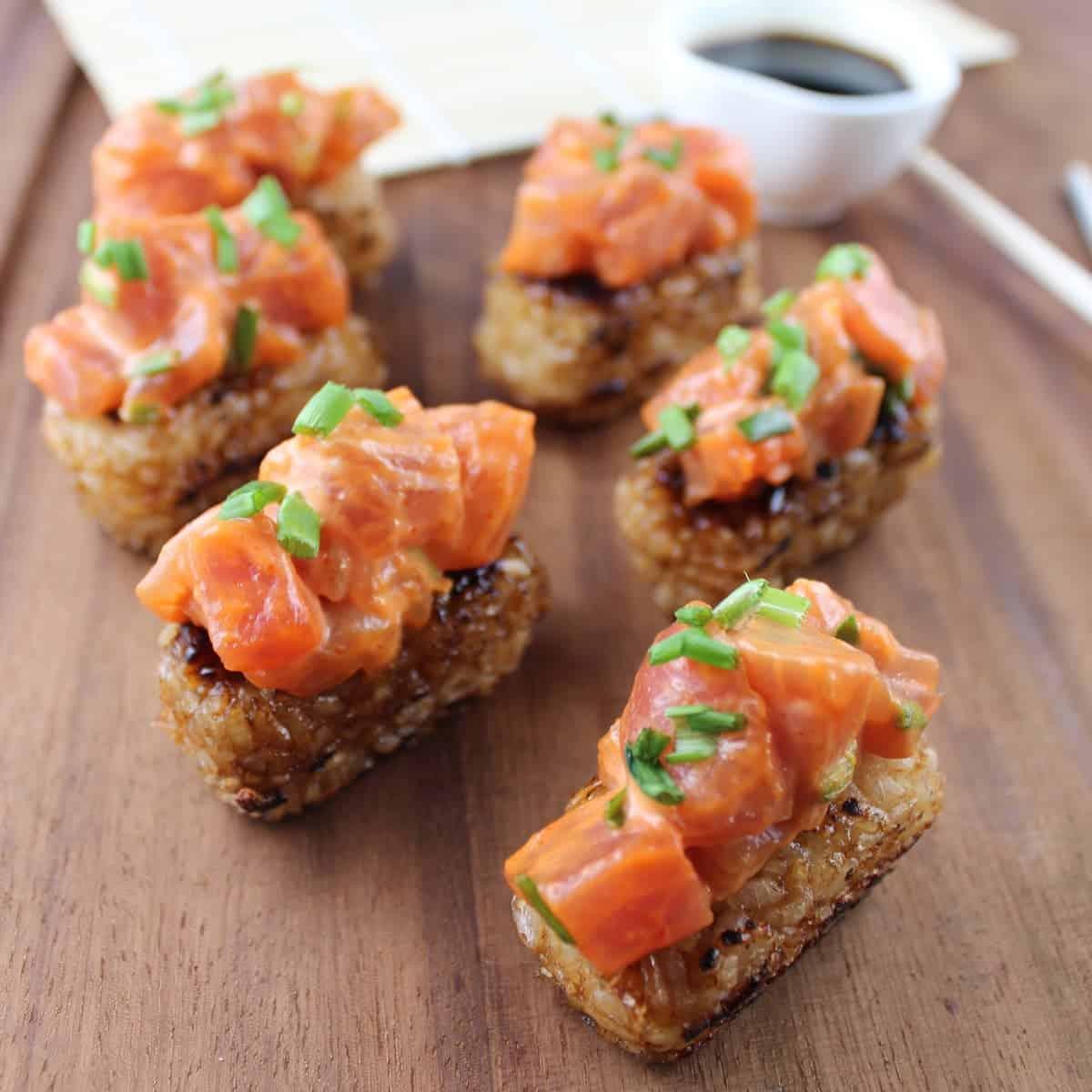 spicy tuna crispy rice cakes