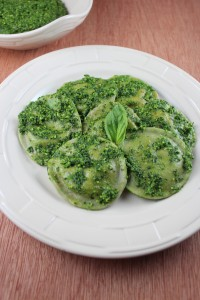 Three Cheese Green Ravioli Recipe