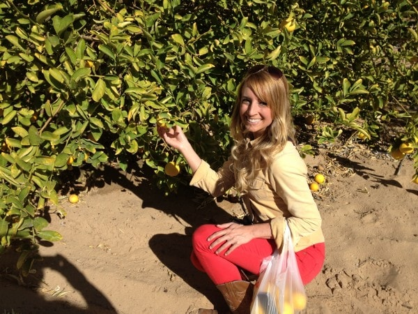 Whitney Bond Picking Oranges