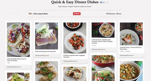 LLB Pinterest Quick and Easy Dishes