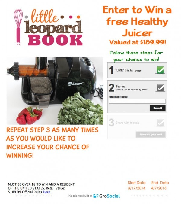 Free Juicer Giveaway