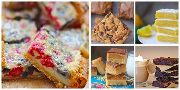 the seaside baker, dessert recipes, bar recipes, brownie recipes, guest blogging, Tagalong Bars, Salted Dulce de Leche Cookie Bars, Berry Custard Bars, Lemon Brownies, Dulce de Leche Brownies