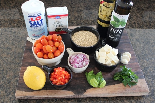 Quinoa Caprese Salad Ingredients