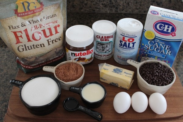 Gluten Free Skillet Brownie Ingredients