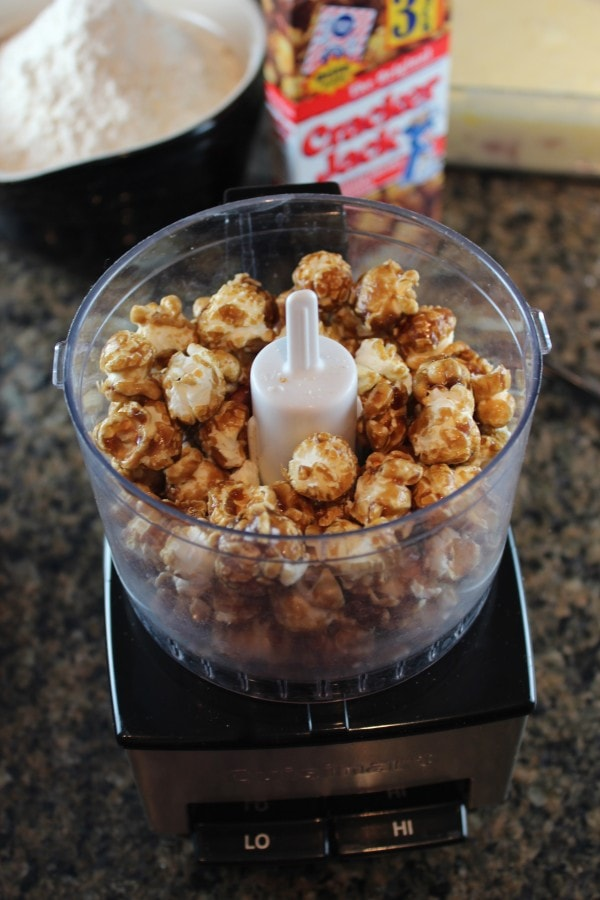 Cracker Jacks in Food Processor