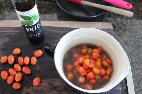 Grape Tomatoes in Vinaigrette