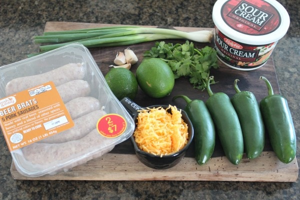 Bratwurst Cheese Stuffed Jalapeño Ingredients