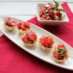 Tomato Basil Bruschetta Baskets