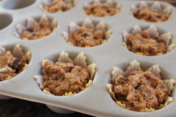 Gluten Free Carrot Date Muffins