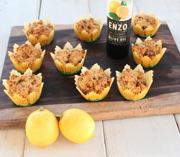 Gluten Free Meyer Lemon Date Muffins