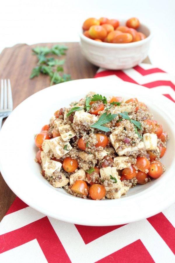 Gluten Free Quinoa Caprese Salad