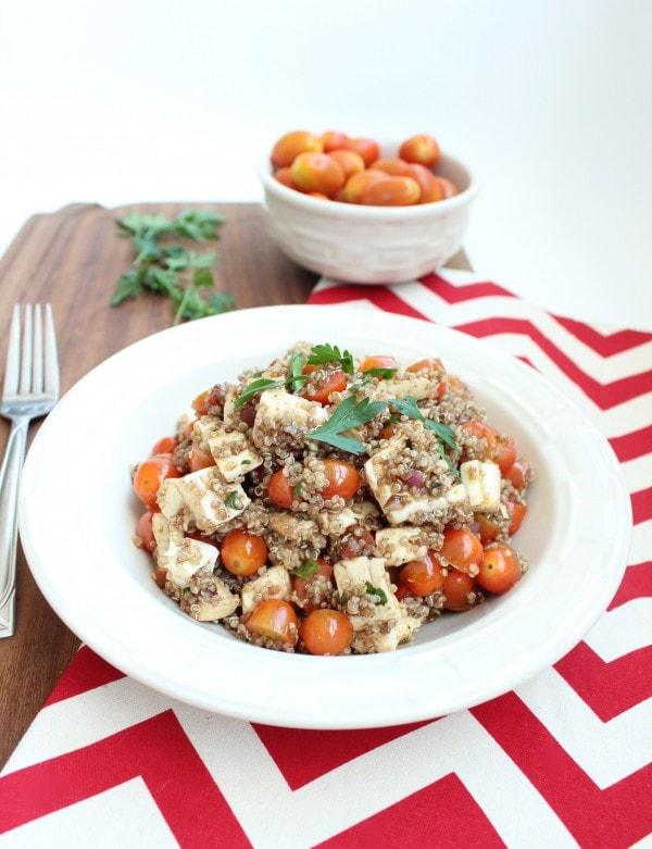 Quinoa Tomato Mozzarella Salad