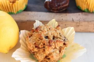 Gluten Free Lemon Date Muffins