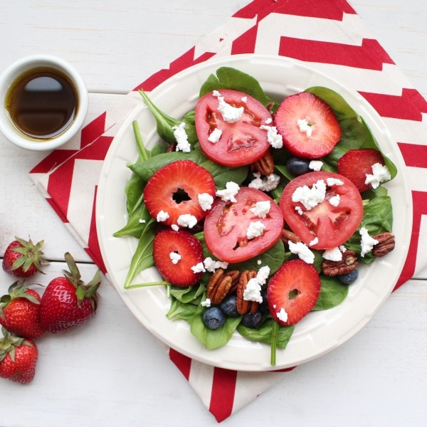 Spinach Strawberry Ricotta Salad