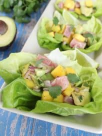 Avocado Ahi Lettuce Wraps
