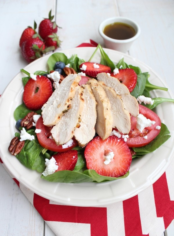 Grilled Chicken Strawberry Summer Salad