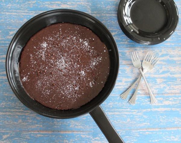 Gluten Free Nutella Brownie Skillet