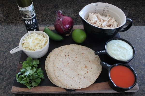 Buffalo Chicken Taco Ingredients