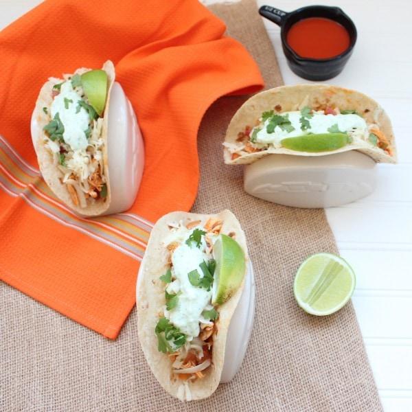 Gluten Free Buffalo Chicken Tacos