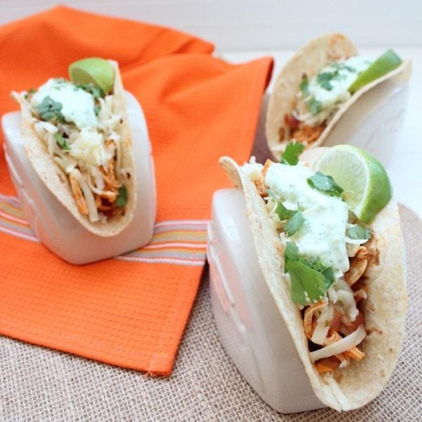 Spicy Buffalo Chicken Tacos