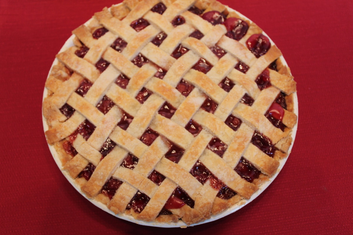 Cherry Pie Cherry pie with lattice crust