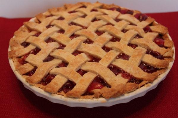Mom's Famous Cherry Pie with Lattice Top
