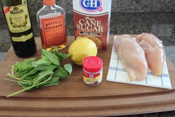 Mint Julep Chicken Skewer Ingredients