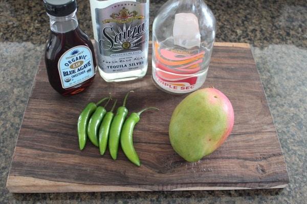 Mango Serrano Chili Margarita Ingredients