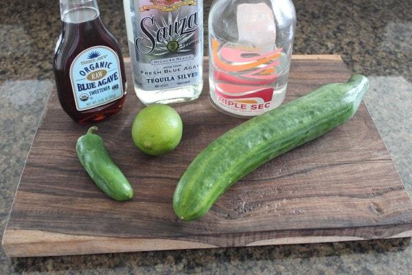 Cucumber Jalapeno Margarita Ingredients