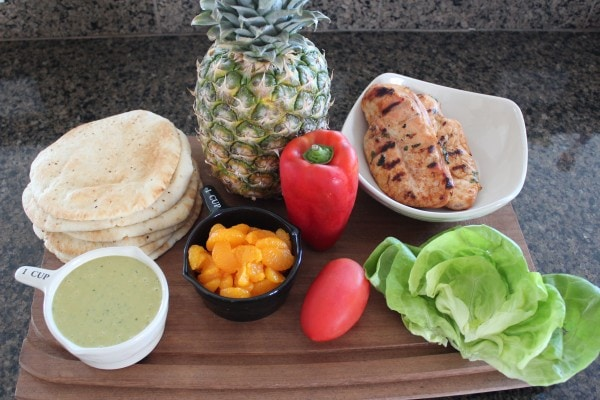 Caribbean Chicken Pita Ingredients