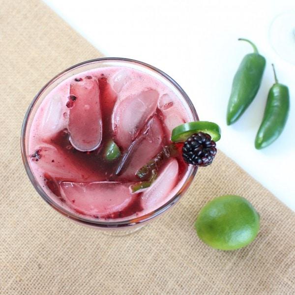 Fresh Blackberry Jalapeño Margarita