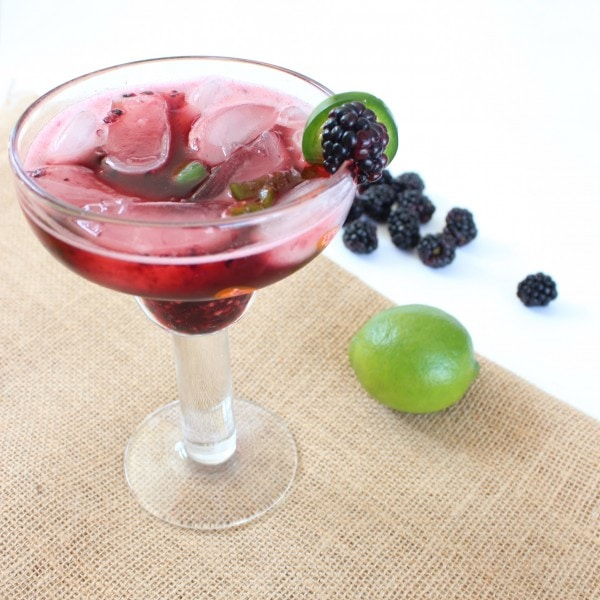 Blackberry Jalapeño Margaritas
